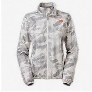 North Face light gray camo wind breaker jacket